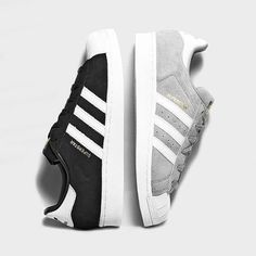 Adidas Originals - Adidas Superstar Suede Trainers in Black   White ... 2ea8b1415