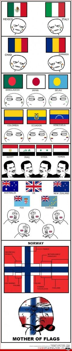 The explanation for why there's the British flag in those ones is because Britain claimed them and they're their colonies