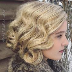 Vintage Hairstyle for Brides with Medium Length Hair