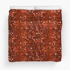 Sparkling Orange Mosaic Pattern