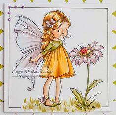 Copic Marker Sweden: favorite day - Sugar Nellie image - Skin: E000-00-21-11-04-93 Hair: Y00-21-YR23-E35 Dress: YR27-24-21 Wings: V95-93-91-000-BG000 Flower: RV01-93-95