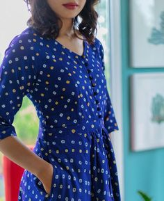 Handcrafted Bandhani Fit & Flare Dress