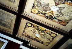 rare map display on ceiling!