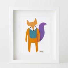 Fox Paper Cut Artwork