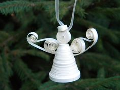 Paper quilling ornaments /Paper christmas ornament by ancamilchis, $6.00