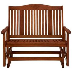 Natural Wood Patio Double Glider-JPC-2508 at The Home Depot