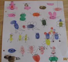 Thumbprints animals