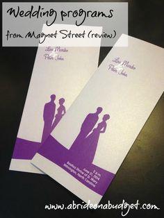 wedding programs #magnetstreet