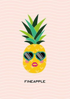'Fineapple' printable pineapple wall art