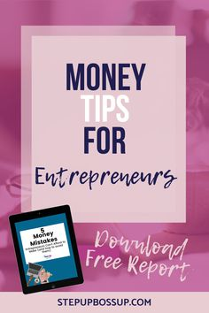 Do you want to know the money mistakes you must avoid as an entrepreneur? Discover the money tips that will help you manage your money as an entrepreneur and save money. Start A Business From Home, Creating A Business, Business Tips, Online Business, Business Ideas For Beginners, Budget Tracking, Managing Your Money, Business Inspiration, Money Tips
