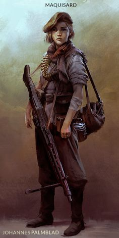 I was inspired by the concept art for Battlefield So, I created a small number of character designs based on partisan factions that fought in the Spanish Civil War and World War II, which was an interesting challenge trying to mix the needs of the Character Concept, Character Art, Concept Art, Military Art, Military History, Call Of Cthulhu, Dieselpunk, Fantasy Characters, Character Inspiration