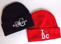 4⃣▪5⃣0⃣ @SalesForToday. also check out www.stores.ebay.com/jenscreationstx..    Lot of 2 Washington D.C Beanie Hat - Red Blue