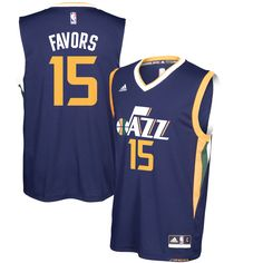 Derrick Favors Utah Jazz adidas Replica Road Jersey - Navy - $69.99