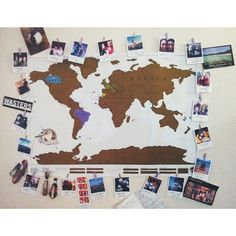 Rearranged my wall #polabora#polaroids#scratchmap