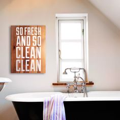 Laundry Room Natural Wooden Sign - So Fresh and So Clean Clean Rustic Wooden Hip Hop Sign - Kitchen, Laundry or Bathroom Decor by RusticHustleShop on Etsy https://www.etsy.com/ca/listing/281106756/laundry-room-natural-wooden-sign-so