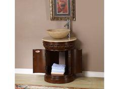 Shop for Silkroad Exclusive Bellevue Vessel Sink Bathroom Vanity. Get free delivery On EVERYTHING* Overstock - Your Online Furniture Outlet Store! Vessel Sink Bathroom, Bathroom Countertops, Diy Shower, Shower Floor, Bath Shower Combination, Large Tub, Bathroom Furniture, Bathroom Ideas, Antique Vanity