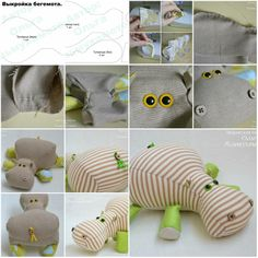 How To Make lovely Fabric stuffed hippo animal baby Toy step by step DIY tutorial instructions | How To Instructions