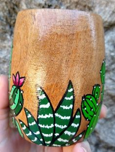 Painted Flower Pots, Painted Pots, Diy Art Projects Canvas, Diy And Crafts, Arts And Crafts, Pottery Painting, Clay Pots, Gourds, Tumbler