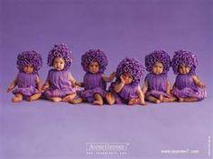Purple flower babies