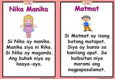 Make your own reading booklet with these Filipino Reading Passages / Tagalog Reading Passages for your remedial instruction or reading dri. Easy Drawings For Kids, Reading Practice, Reading Worksheets, Visual Aids, Tagalog, Reading Passages, Picture Cards, Kindergarten Teachers, Preschool Learning