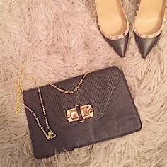 Boutique Party Bag This beauty has accompanied me on many special occasions, girls nights and date nights. You can never go wrong or have too many. This black bag is accompanied with a gold chain strap. Can be worn as a shoulder bag or crossbody by preference. Bags Shoulder Bags