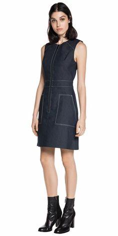Dresses | Denim Sleeveless Shift Dress