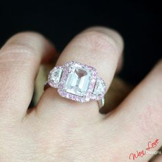 Custom Celebrity White & Pink Sapphire by WanLoveDesigns on Etsy