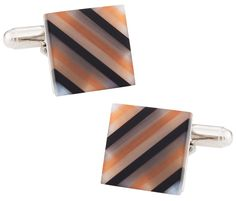 Cuff-Daddy Translucent Black, Orange, & Gray Fiber Optic Cufflinks. Translucent Black, Orange, & Gray Fiber Optic Cufflinks. Arrives in hard-sided, presentation box suitable for gifting. Covered by Cuff-Daddy's manufacturer product warranty. Skillfully crafted from high quality materials. A Perfect Accessory for your French Cuff Shirt.