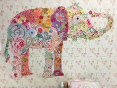 Lulu Elephant collage kit by Laura Heine