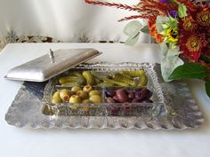 Vintage Aluminum Serving Dish Hammered Aluminum Serving Tray Divided Dish Mid Century 1960s by cynthiasattic on Etsy