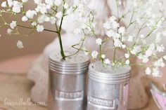 Bo and Belle » A virtual happy place -- cinnamon and ginger shakers with flowers