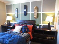Teenage boy bedroom Painted squares