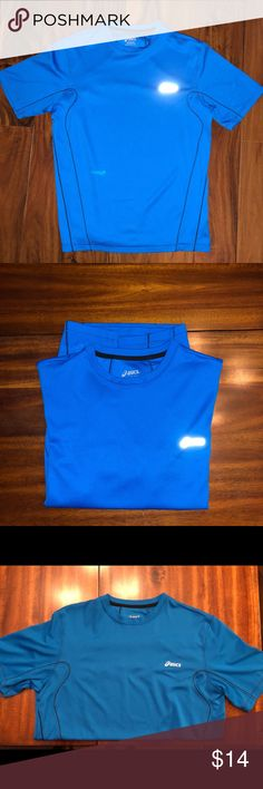 ASICS workout shirt ASICS workout shirt.   Gently used  Royal blue color Asics Shirts