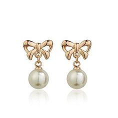 Ladies Women Gold Colour Dangle Earrings