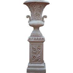 Gorgeous Ornate Huge Planter on Pedestal,35''D x 64''H. #Unbranded
