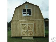 These plans are for a two story barn style shed. To be built with your labor and materials. Total height of the shed is Great do-it yourself project.