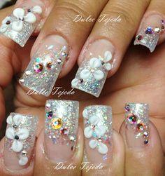 Bridal Fan Nails, Paws And Claws, Nail Art, Bridal, Beauty, Cosmetology, Brides, Bride, Wedding Dress
