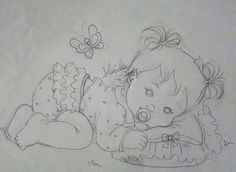 Colouring Pages, Coloring Books, Embroidery Patterns, Hand Embroidery, Baby Cross Stitch Patterns, Kids Patterns, China Painting, Baby Art, Pattern Blocks