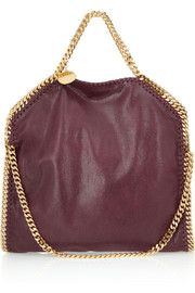 Stella McCartney The Falabella convertible brushed-leather shoulder bag