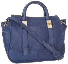 Vince Camuto Anna Satchel,Estate Blue,One Size