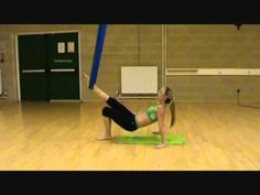 Tri-Fly Fitness Aerial Yoga Strength Training Routine (fun) - YouTube