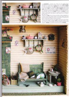 Miniature garden shed - inspiration