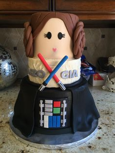 star wars cake darth vader cake princess leia cake