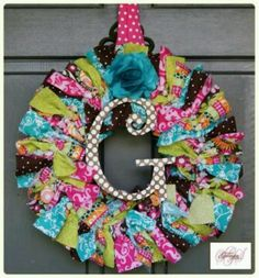 Make a wreath from the fabric swatches from thirty-one. Would be great in my office!