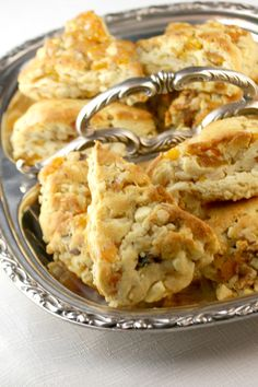 White Chocolate, Apricot, and Walnut Scones