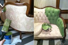 I Love Today: {my sofa got a paint job}: be sure and do not omit the fabric medium.