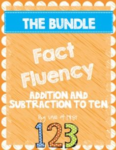 Addition and Subtraction to 10 Fact Fluency BUNDLE