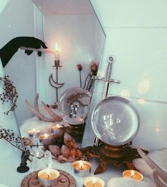 Nocturnal Altar - Utterly Wicked Witch Ideas for Halloween - Photos Pagan Altar Inspiration, Wiccan Decor, Witchy Room Ideas, Witchy Gifts Decoration Inspiration, Decoration Design, Room Inspiration, Magick, Witchcraft, Witch Room, Wiccan Altar, Witch Decor, Witch House