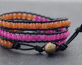 Femme Leather Wrap Beaded Bracelet