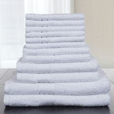 Light up your day with a Lavish Home 12 Piece 100% Cotton Towel Set - White after a shower or relaxing bath. 22% Off!